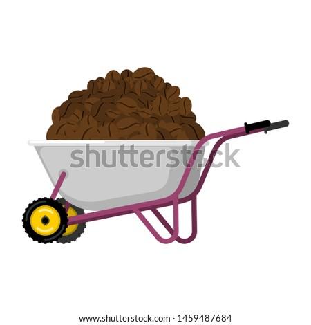 Kruiwagen koffie koffiebonen tuin groot oogst Stockfoto © popaukropa