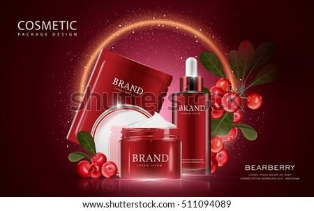 kozmetika · vektor · valósághű · csomag · reklámok · sablon - stock fotó © frimufilms