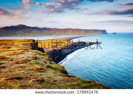 Vista playa soleado colinas ubicación Foto stock © Leonidtit