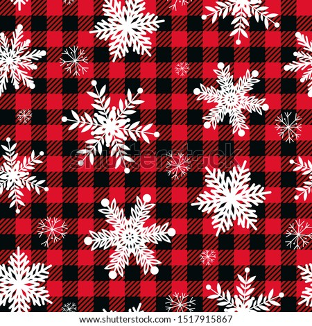 Christmas, winter vector seamless pattern with snowflakes, cross-stitch repetitive design, Scandinav Stock photo © RedKoala