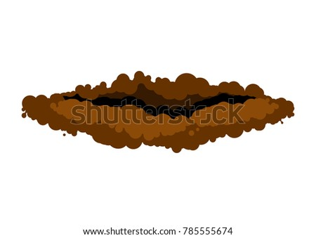 burrow in ground. den groundhog rodent on white background. Vect Stock photo © MaryValery