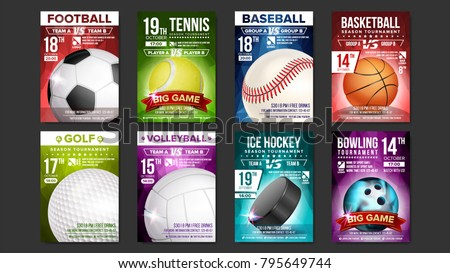 Tennis Poster Vector. Sport Event Announcement. Vertical Banner Advertising. Professional League. Ev Stock photo © pikepicture