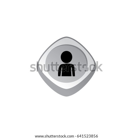 user profile glossy color app icon button game asset theme vector Stock photo © vector1st