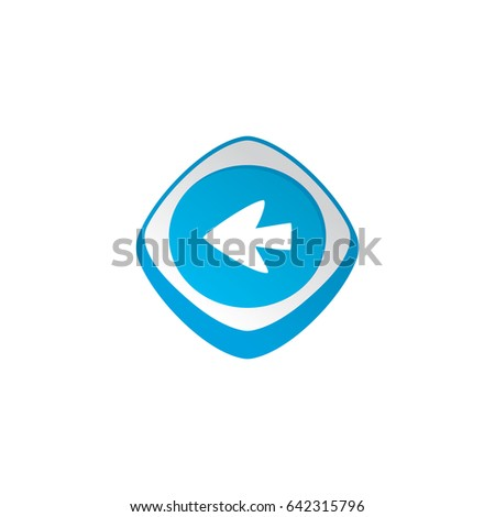Nyíl kurzor fényes szín app ikon Stock fotó © vector1st