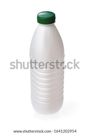 Plastica latte bottiglia verde vite cap Foto d'archivio © Makstorm