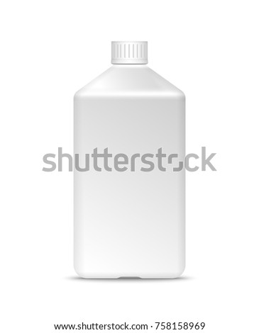 Blank milk or yoghurt white bottle with screw cap vector templa Stock photo © Makstorm
