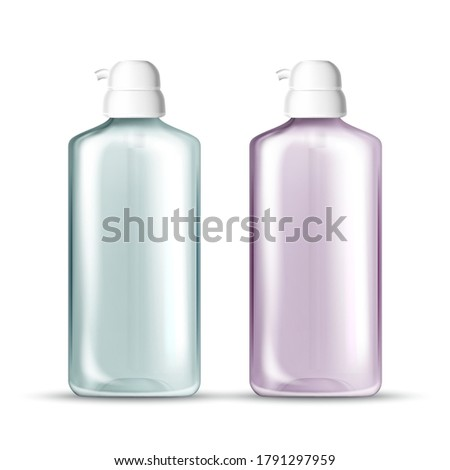 Vector realistic blank template of plastic bottle with dispenser Stock photo © Makstorm