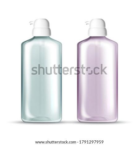 wektora · realistyczny · szablon · plastikowe · butelki · w · górę - zdjęcia stock © Makstorm