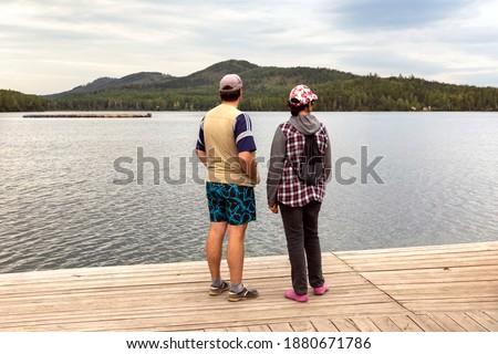 旅行 観光 女性 桟橋 美しい 表示 ストックフォト © artfotodima