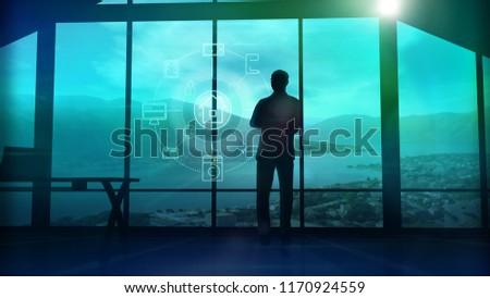 человека Постоянный окна Инфографика Элементы фотография Сток-фото © ConceptCafe