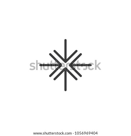 stretch exit full screen icon. isolated perfect pixel arrow symbol with flat style in white backgrou stock photo © taufik_al_amin
