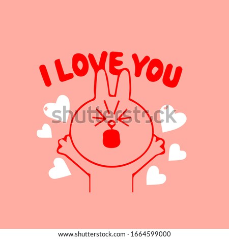 Küçük karikatür maskot karakter valentine sevmek Stok fotoğraf © hittoon