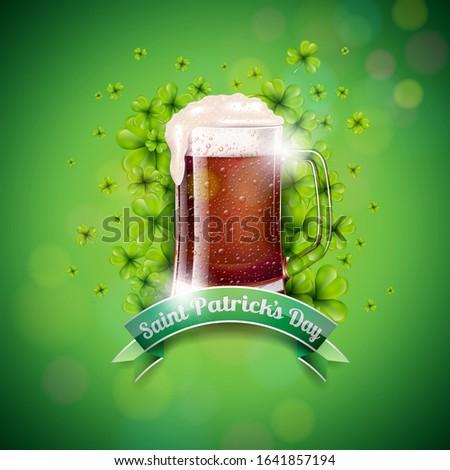 Szent nap terv friss sötét sör Stock fotó © articular