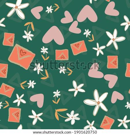 Romantikus szeretet levelek végtelenített vektor minta Stock fotó © yopixart