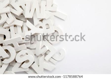 Branco pintado cartas tipografia Foto stock © sqback