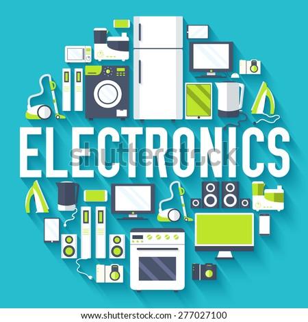 Otthon elektronika készülékek infografika sablon ikonok Stock fotó © Linetale