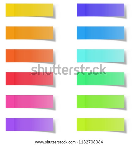 Sticky Paper Note with Shadow Effect. Blank White Memo Note Stickers for Posting Isolated on White B stock photo © olehsvetiukha