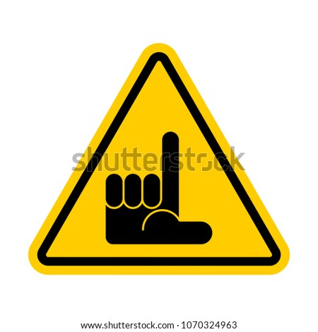 loser attention unsuccessful man is prohibited yellow triangle stock photo © maryvalery