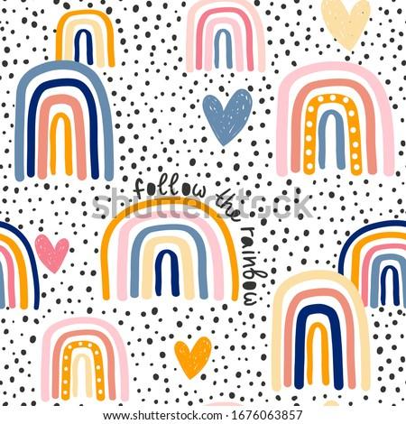 Moon seamless pattern. Monochrome. Vintage hand drawn design. Space theme, symbols. Stock illustrati Stock photo © JeksonGraphics