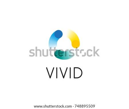 Streszczenie wektora słońce kółko logo Zdjęcia stock © kyryloff