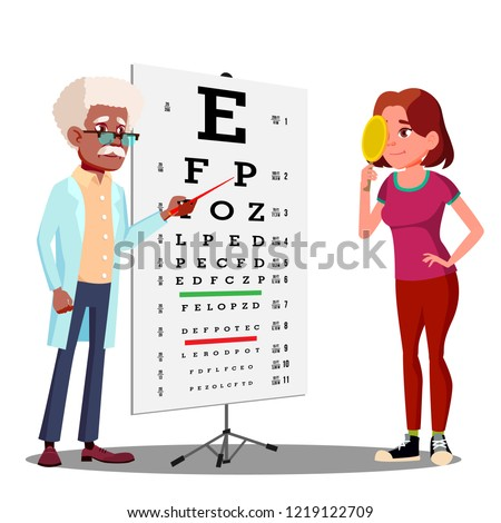 femminile · vettore · medici · occhi · diagnostica - foto d'archivio © pikepicture