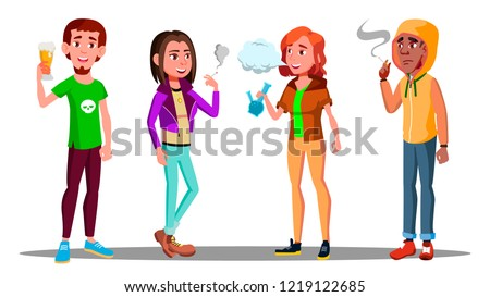 Difficile adolescents alcool cigarettes médicaments dépendance Photo stock © pikepicture