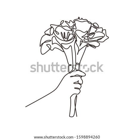Blumenstrauß · stilisierten · Rosen · Hand · Zeichnung · vorliegenden - stock foto © essl