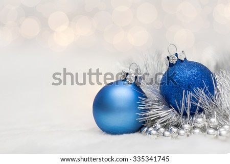 transparente · azul · natal · bola · neve · efeito - foto stock © olehsvetiukha