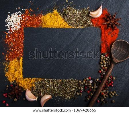 coleção · fresco · ervas · necessário · cozinha · espinafre - foto stock © illia