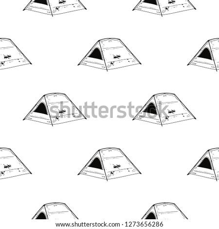行 芸術 テント シルエット スタイル ストックフォト © JeksonGraphics