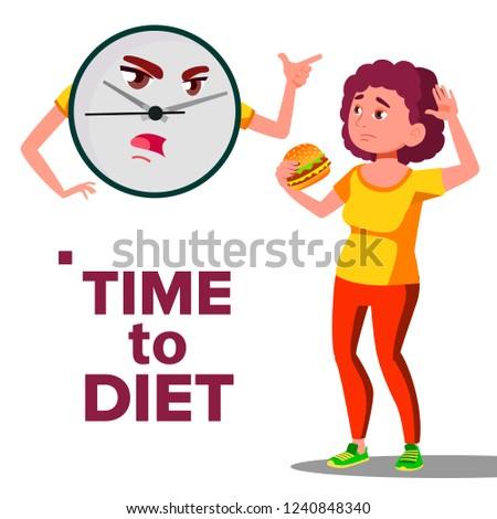 время диета стены часы кричали девушки Сток-фото © pikepicture
