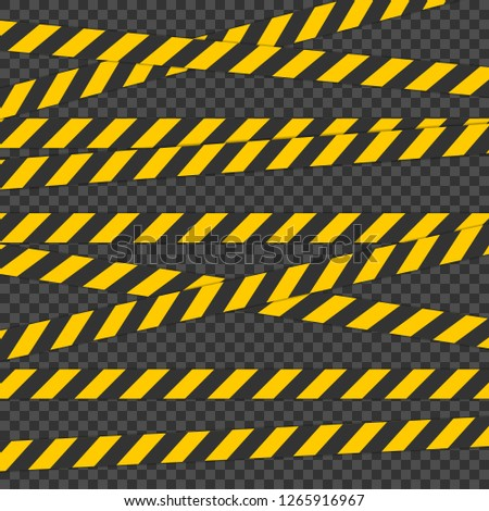 Barricade tape. For Physical Hazards. Tape for warn or catch the attention. Tape containing a possib Stock photo © AisberG