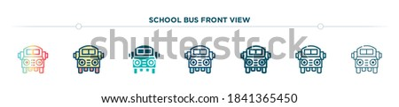 School Bus Vector. Yellow Classic School Vehicle. Two Sides. American. Education Concept. Isolated F Stock photo © pikepicture