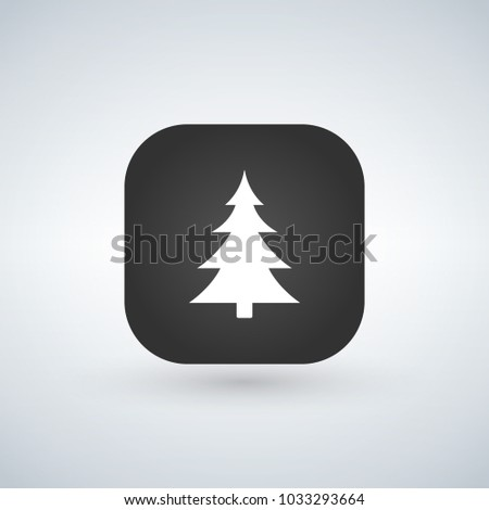 Christmas tree or forest sign icon over the application button.  Stock photo © kyryloff