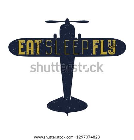 Uçuş poster yemek uyku uçmak aktarmak Stok fotoğraf © JeksonGraphics