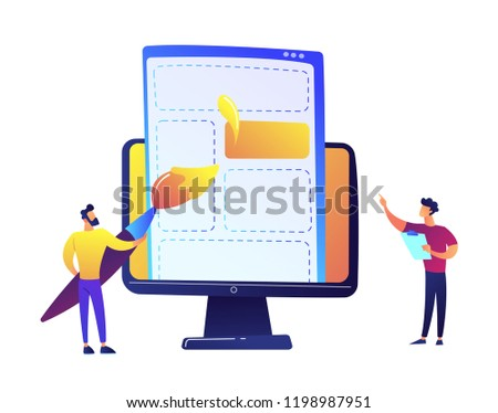 Dessin web page brosse LCD Photo stock © RAStudio