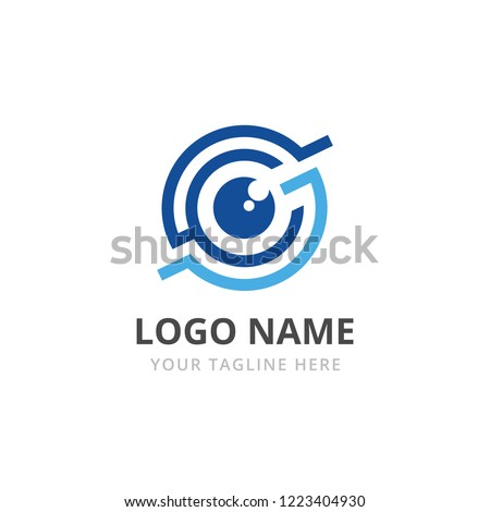 Futuristic Retina futuristic circles eye, personality eye identification, Modern Eye icon. Vector il Stock photo © kyryloff