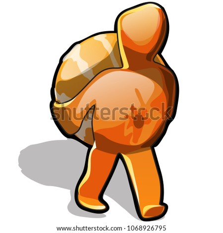 Mandarin carries himself isolated on a white background. Vector cartoon close-up illustration. Stock photo © Lady-Luck
