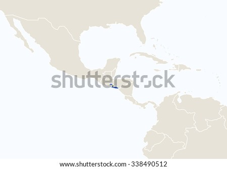 El Salvador map located on a world map with flag and map pointer or pin. Infographic map. Vector ill Stock photo © kyryloff