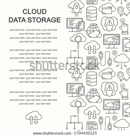 Cloud computing Settings line icon. linear style sign for mobile concept and web design. Cloud Stora Stock photo © kyryloff
