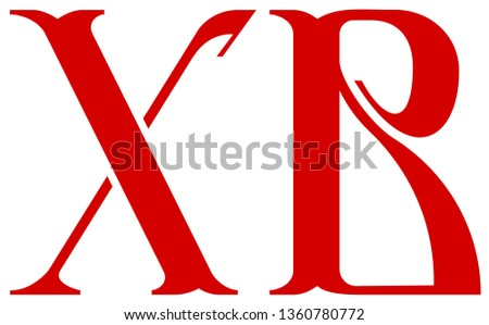 XB is russian orthodox easter symbol christ resurrected. Calligraphy cyrillic lettering font type Stock photo © orensila