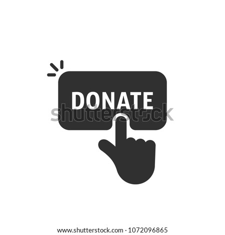 Finger pressing button Donate - charity, fundraising and crowdfu Stock photo © Winner