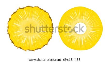 Heldere realistisch ananas stukken geïsoleerd Stockfoto © MarySan