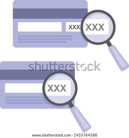 Código ícone amostra cartão de crédito lupa on-line Foto stock © Winner