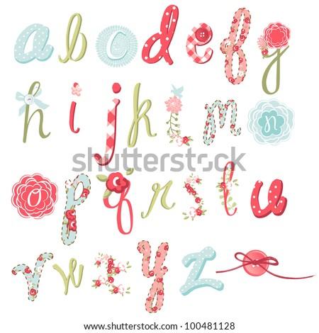Stock fotó: Tavasz · szett · kézzel · rajzolt · virágok · kalligráfia · fehér
