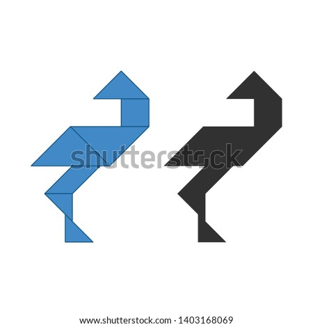 Ooievaar traditioneel chinese puzzel zeven Stockfoto © kyryloff