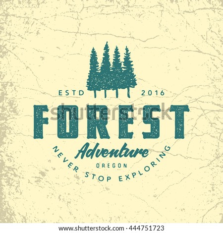 Vintage hand drawn adventure logo with axes and quote - Bushcraft Wilderness survivals skills. Old s Stock photo © JeksonGraphics
