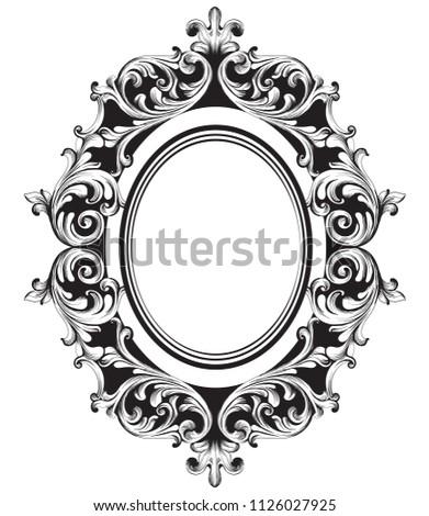 барокко богатых овальный форма кадр Vintage Сток-фото © frimufilms