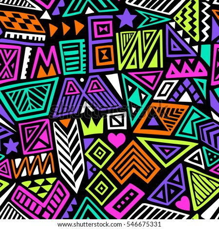 Sports hand drawn doodles seamless pattern. Line art vector background Stock photo © balabolka
