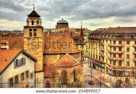 Paisaje urbano Suiza barrio antiguo vista ciudad Foto stock © Winner